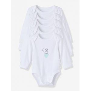 c4bf611ee505f Vertbaudet Lot de 5 bodies pur coton bébé imprimé manches longues