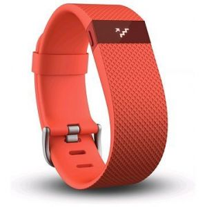 Fitbit Bracelet connecté Charge HR orange taille S
