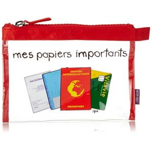 Incidence Paris Pochette Krystal mes Papiers Importants, 21 cm, Transparent
