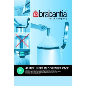Brabantia 375644 - Distributeur 40 sacs de poubelle avec poignées coulissantes (20 L)