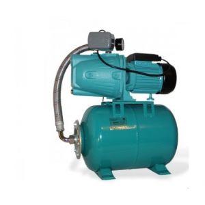 Omni Pompe d'arrosage JET100A + manomètre, interrupteur + ballon 50L, POMPE DE JARDIN pour puits 1100 W, 3600l/h, 230V, JET100A50L