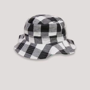 Catimini Chapeau de soleil réversible noir/blanc