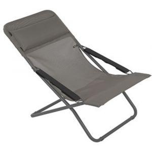 Lafuma Chaise longue, Pliable et réglable, Transabed, Batyline, Couleur: Terre, LFM2205-8556