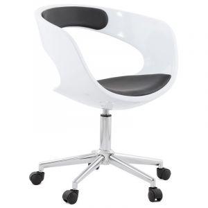 Kokoon Design Chaise de bureau blanche et noire Pivotante AUSSI AFTER
