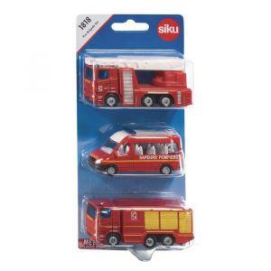 Siku Modèles réduits : Set 3 véhicules Pompiers
