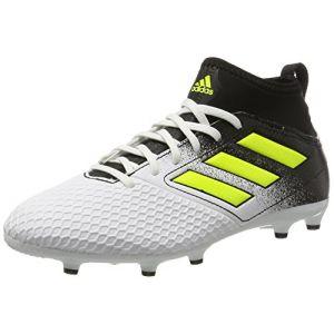 Adidas Ace 17.3 FG, Chaussures de Football Entrainement Mixte Enfant, Blanc (Footwear White/Solar Yellow/Core Black), 36 2/3 EU