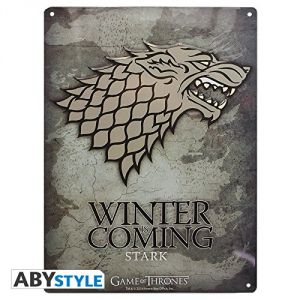 Abystyle Plaque métal Stark Game of Thrones