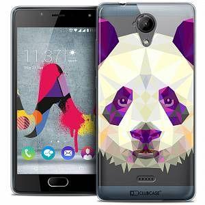 CaseInk Coque Gel Wiko U Feel LITE Extra Fine Polygon Animals - Panda