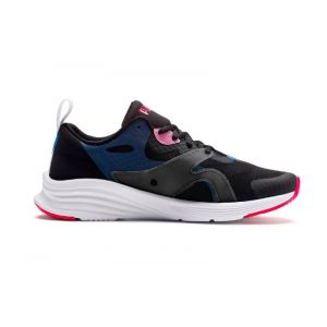 Puma Chaussure Basket HYBRID Fuego Running pour Femme, Noir/Bleu/Rose, Taille 37.5