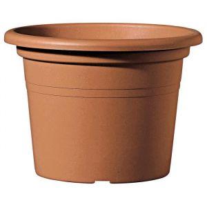 Deroma Pot Farnese - 45x45x31,4 cm - 29L - Terre rouge - Plastique injecté - Résistant au gel, résistant aux UV, percé, recyclable - Usage : extérieur