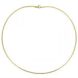 Rêve de diamants CDMC458 - Collier maille omega en or jaune 375/1000