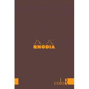 Rhodia 18963C - Bloc coloR N°18 chocolat format 21 x 29,7 cm 140 pages - ligné
