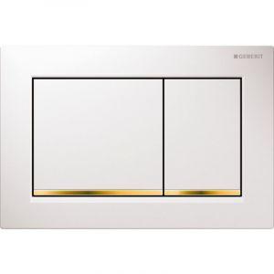 Geberit Plaque de déclenchement OMEGA30 blanc doré (115.080.KK.1)