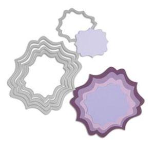 Sizzix Matrice de découpe DIE Framelits Étiquette fantaisie 5 pcs