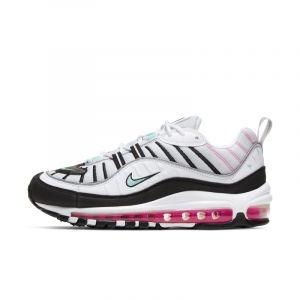 Nike W Air Max 98, Sneakers Femme, Chaussures Casual Femme, AH6799-065. - Multicolore - Pure Platinum/Aurora Green, 39 EU EU