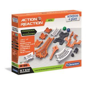 Clementoni Action & Réaction - Rails, bases, jonctions et croisements
