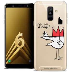 CaseInk Coque Gel Samsung Galaxy A6 PLUS 2018 (6 ) Extra Fine Les Shadoks® - Le Chef