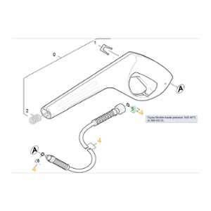 Kärcher Tuyau Flexible Haute Pression 14/9 40°c 63905530 Pour NETTOYEUR HAUTE-PRESSION