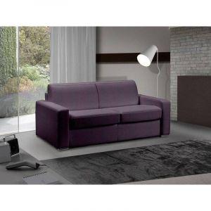 INSIDE Canapé lit 3 places MASTER convertible système RAPIDO 140 cm Tweed Cross violet MATELAS 18 CM INCLUS