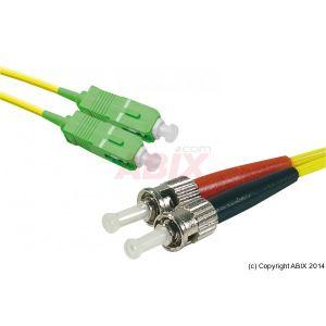 MCAD 391604 - Câble jarretiere fibre optique OS1 9/125 SC-APC/ST 10m