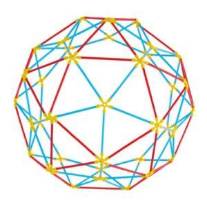 Hape E5564-Jeux de Construction éco Responsable en Bambou-Structures géodésiques Jouets en Bois, E5564, Multicolore