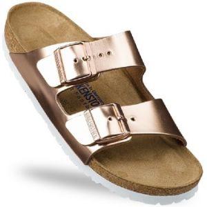 Birkenstock Arizona, Sandales Femme, Or (Metallic Copper/Soft Footbed), 39 EU