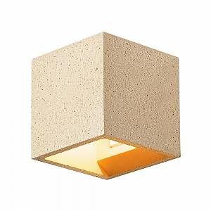 SLV SOLID CUBE, applique, grès jaune, QT14 max. 25W - Jaune