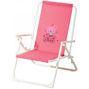 Ozalide Fauteuil de jardin relax enfant Piccolo - Rose