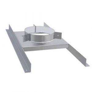 Isotip Joncoux Support plancher GALVA double paroi Ø80