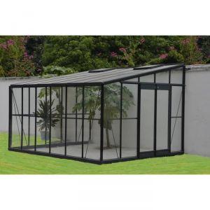 Palram Serre de jardin d'hiver adossable 12 m² en aluminium et verre trempé