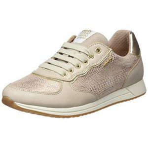 Geox J Jensea D, Sneakers Basses Fille, Beige (Skin/Beige), 33 EU
