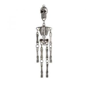 Panduro Pendentif squelette argent - Pendentif squelette - Coloris : argent - Dimension : 22x95 mm - Trou : 1,5 mm - Matière : métal