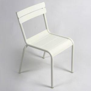 Fermob Chaise enfant Luxembourg Kid / Empilable - Métal blanc en métal