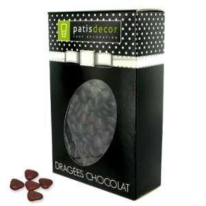 Patisdécor Mini-coeurs chocolat marron - 500g
