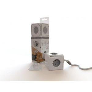 Allocacoc PowerCube Extended 3 m DuoUSB, 4 prises 230V + 2 USB FR