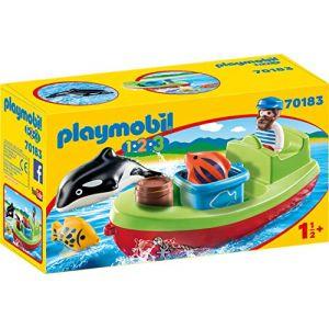 Playmobil 70183 1.2.3 - Bateau et pêcheur - 2020