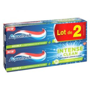 Aquafresh Dentifrice Intense clean fraîcheur - 75 ml - Lot de 2