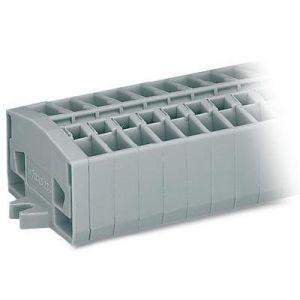 Wago 264-110 - Barrette à bornes pour 2 conducteurs type CAGE CLAMP 10 pôles avec bride de fixation pour vis en emballage industriel