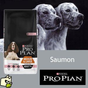 Purina Pro Plan Chien Senior Sensitive Saumon Riz - Croquettes Sac de 14 kg