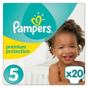 Pampers Premium Protection taille 5 (11-23 kg) - 20 couches
