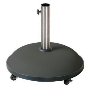 Pied de parasol noir en béton de 35 kg