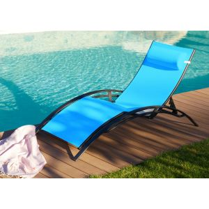 DCB Garden Stolica - Bain de soleil multiposition en aluminium et textilène