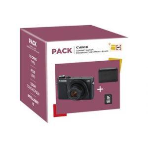 Canon G9X MKII + ETUI + 16 Go - Appareil photo compact