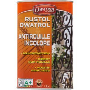 Owatrol Rustol Antirouille Multifonction Incolore Bidon de 1L