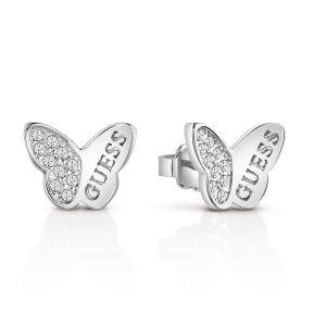 Guess Boucles oreilles Boucles d'oreilles en Métal et Cristal Blanc Femme multicolor - Taille Unique