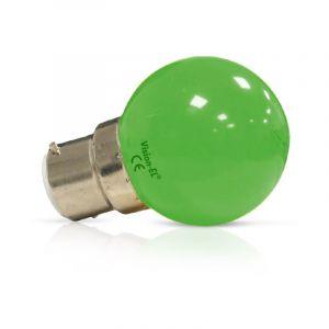 Vision-El Ampoule Led 1W (9W) B22 Couleur émise VERT finition dépolie