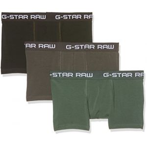 G-Star Raw Classic Trunk Clr 3 Pack, Short Homme, Multicolore (Gs Grey/Asfalt/Bright Jun 8529), Large