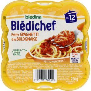 Blédina Bledichef 230g petits spaghetti à la bolognaise dès 12 mois