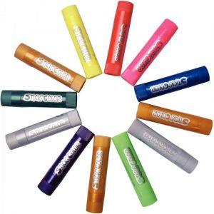 Sticks de gouache, fluo et métal - Boite de 12