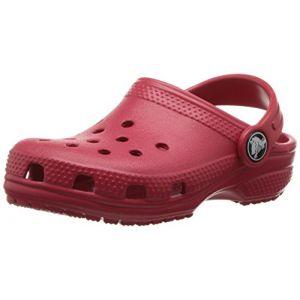 Crocs Classic Clog Kids, Sabots Mixte Enfant, Rouge (Pepper), 33-34 EU